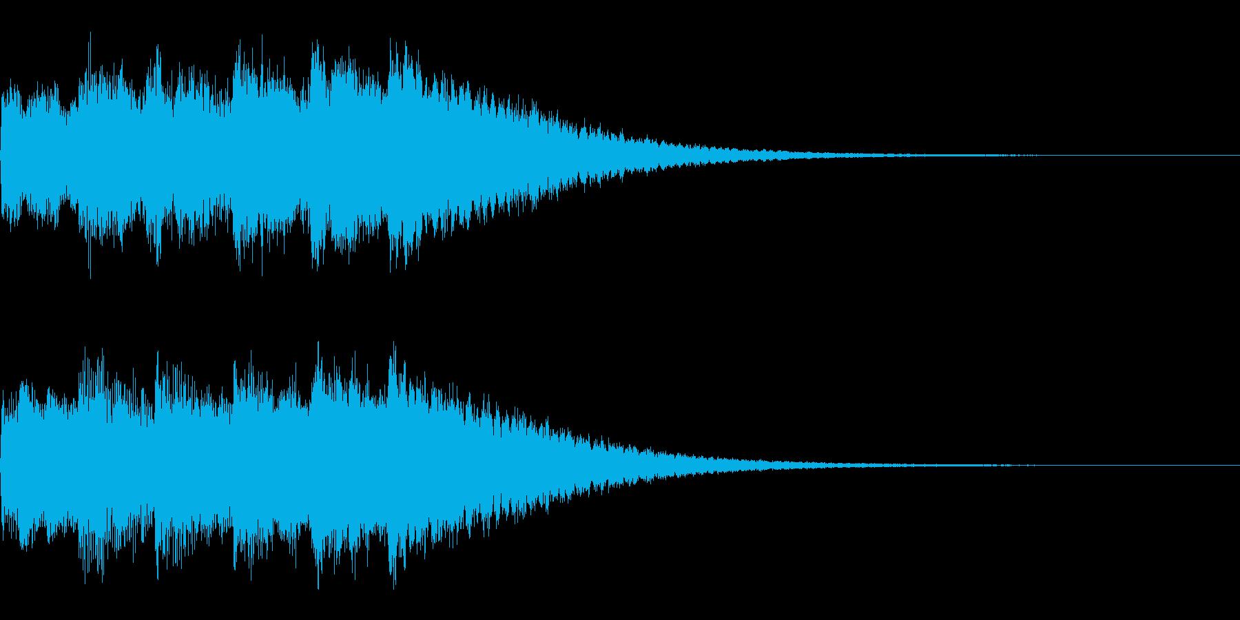 サウンドロゴ、ジングル(ベル系)の再生済みの波形