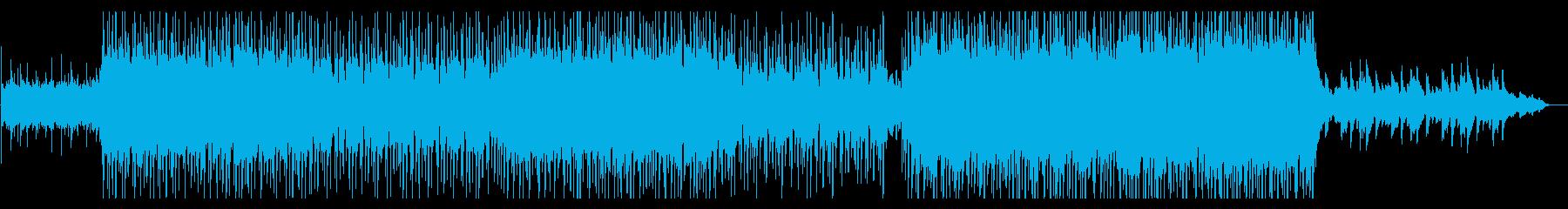 和風アジアンテイスト疾走感タイトルバックの再生済みの波形