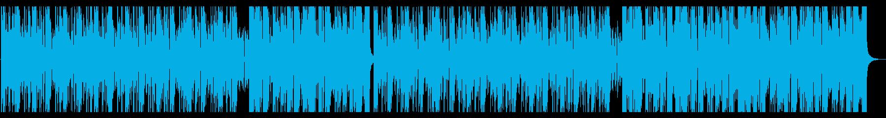 怪しく迫るようなうねうねしたBGMの再生済みの波形