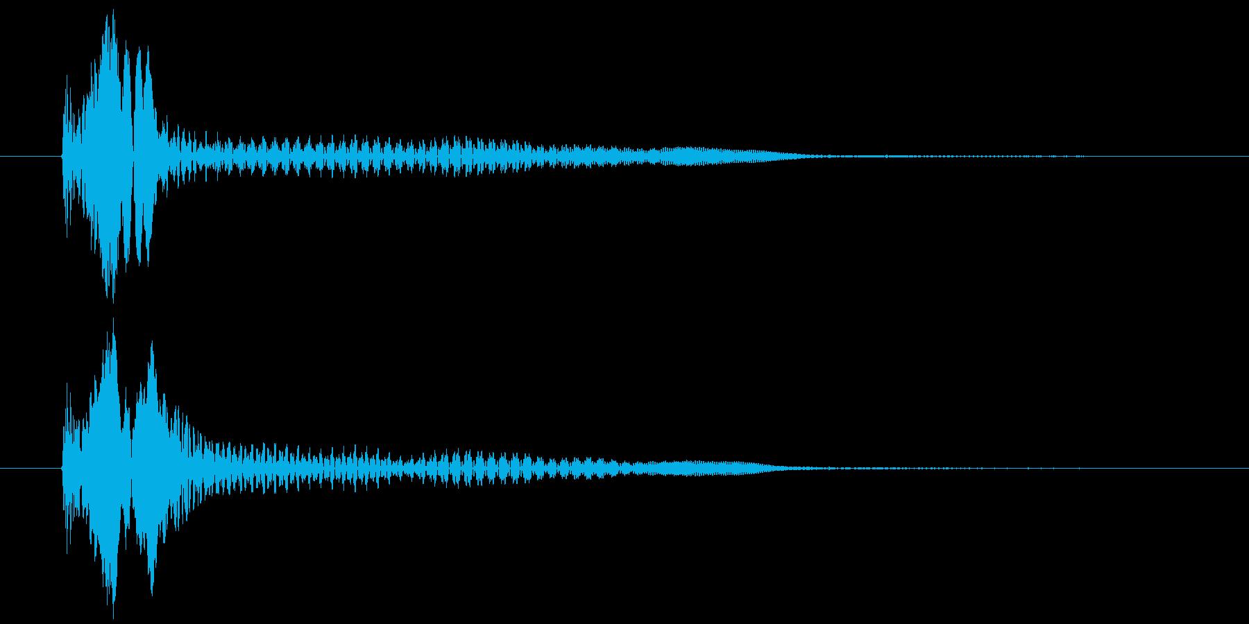 ぽよよーん、と下がる音です。の再生済みの波形