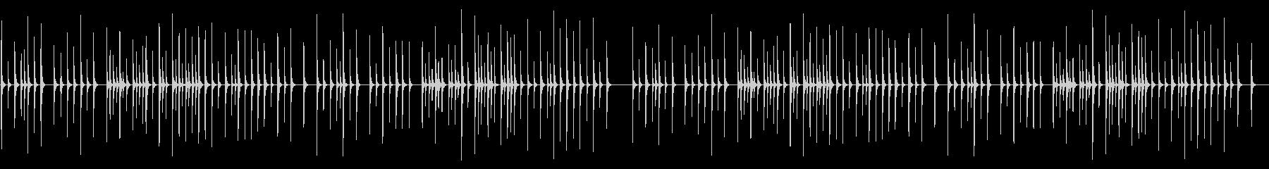 お正月 卓上木琴の未再生の波形