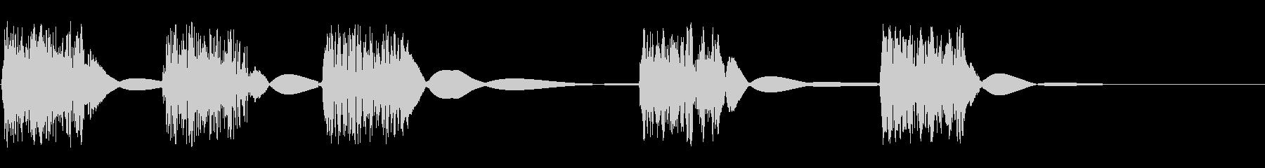 クイックカッタースクラッチスイープの未再生の波形