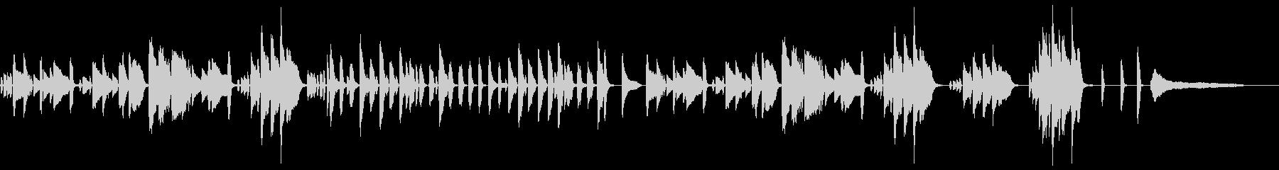 日常的な雰囲気の陽気なジャズ・ピアノの未再生の波形