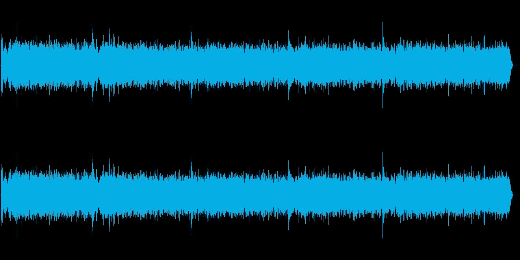 洗濯機の稼動音(ウィーンガタガタ)の再生済みの波形