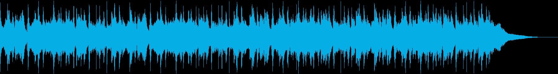 ウクレレとギターのポップスの再生済みの波形
