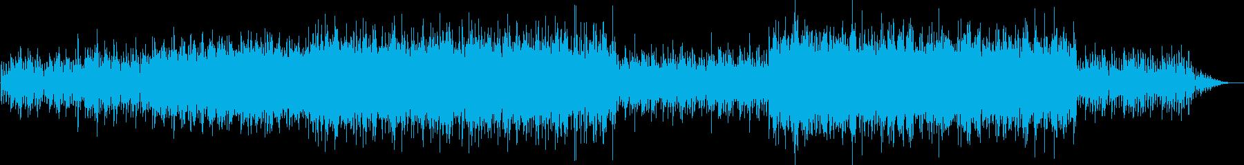 ポップでアップテンポなミュージックの再生済みの波形