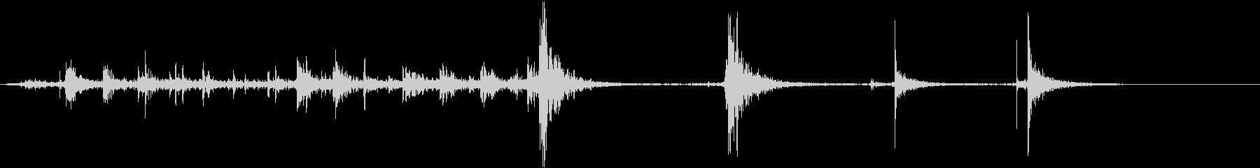 ガレージドア4の未再生の波形