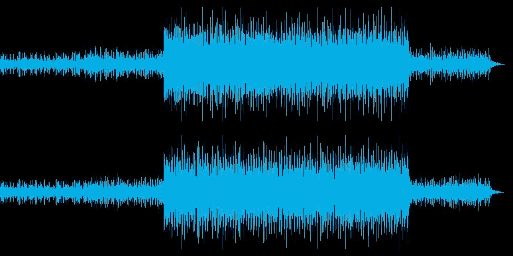 クールで淡々としたニュース系BGMの再生済みの波形