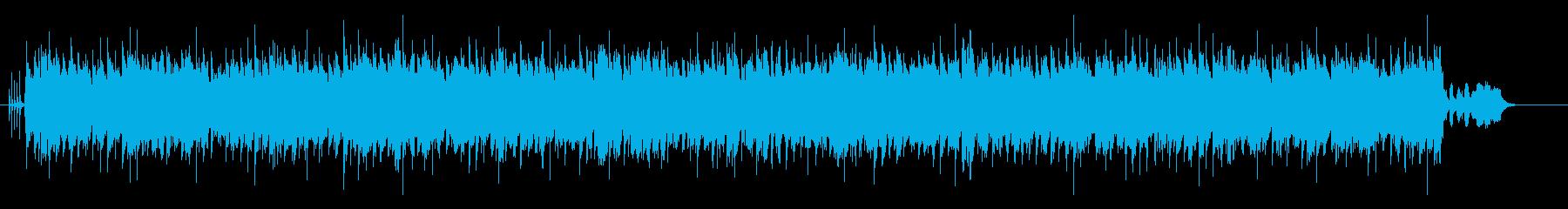 ヨーロピアン・ポップス調の曲の再生済みの波形