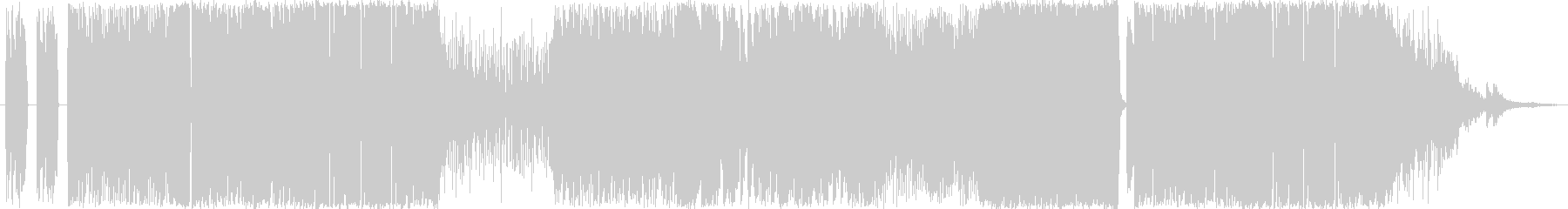 格闘シーン用激しいロックBGMの未再生の波形