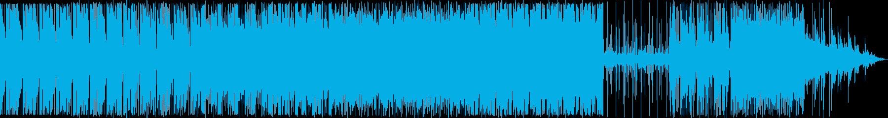 ゆったり感のある都会的なBGMの再生済みの波形