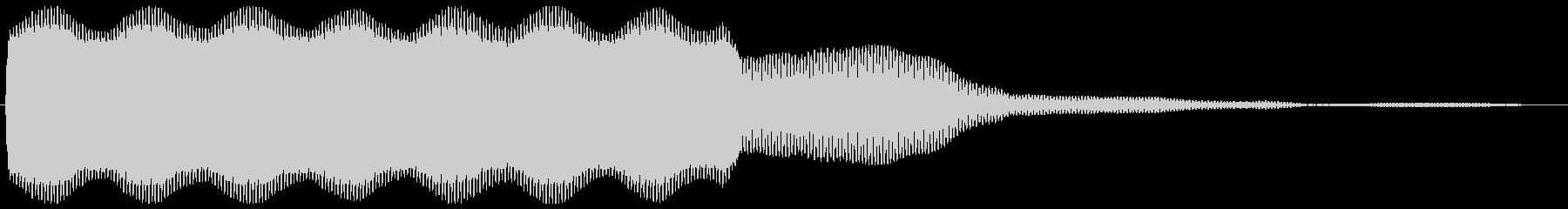 小刻みに震える音が長く続いている効果音の未再生の波形