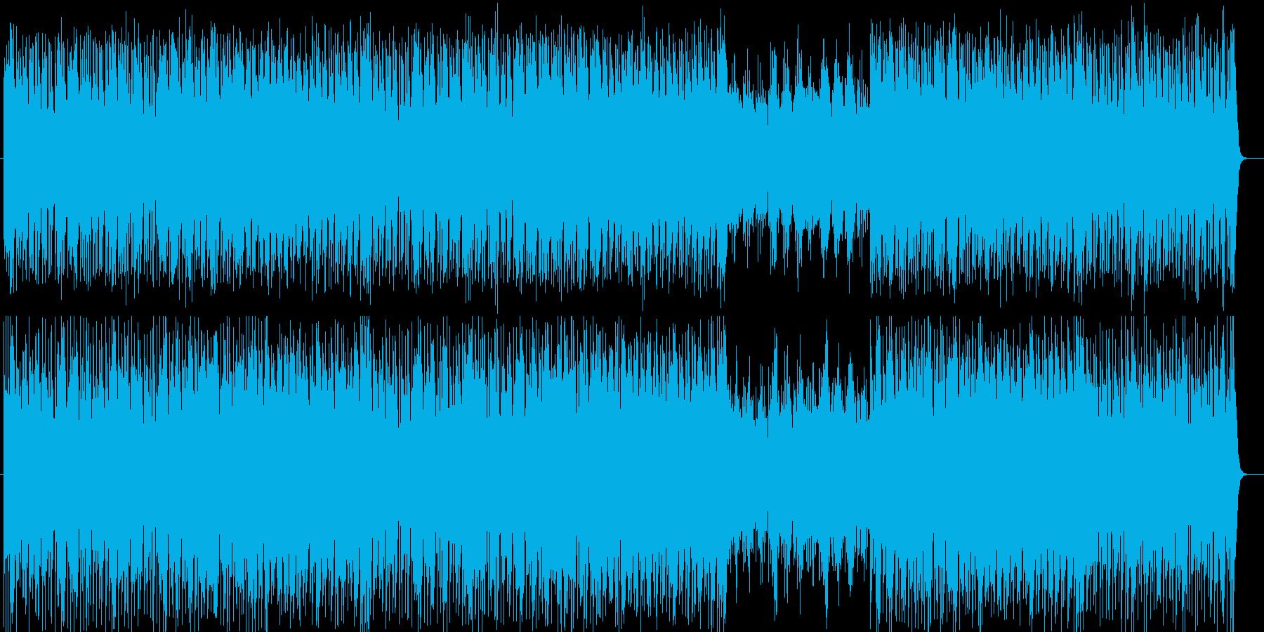シンセサイザーの熱量のあるBGMの再生済みの波形