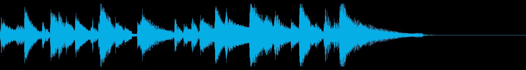 おしゃれなジャズ ピアノ ジングル 02の再生済みの波形