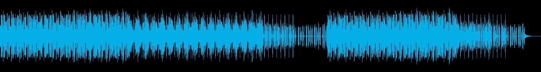 かわいいエレクトロな曲の再生済みの波形