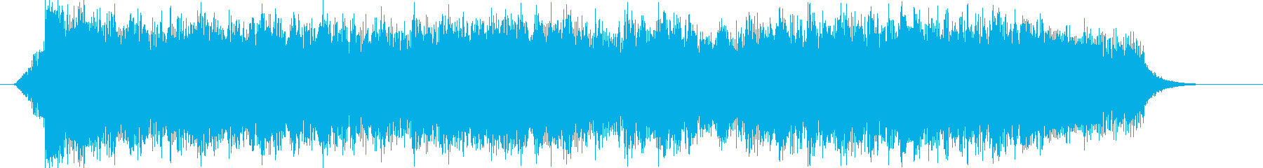 アニソンイントロ風の疾走感あるジングルの再生済みの波形