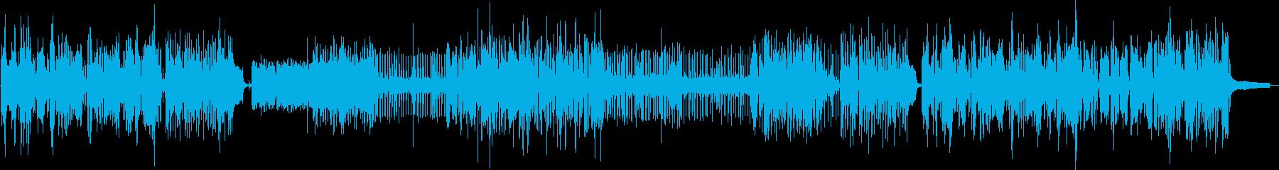 ピアノとブラスのジャズセッションの再生済みの波形