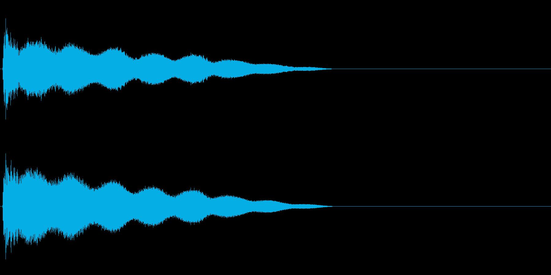 ごーん(鐘を叩いたときの音)の再生済みの波形