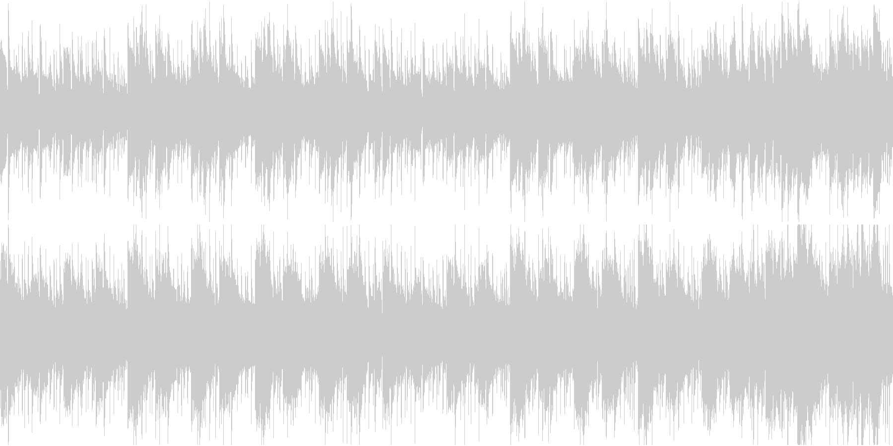 日常シーンに最適なクセの無い曲[ループ]の未再生の波形