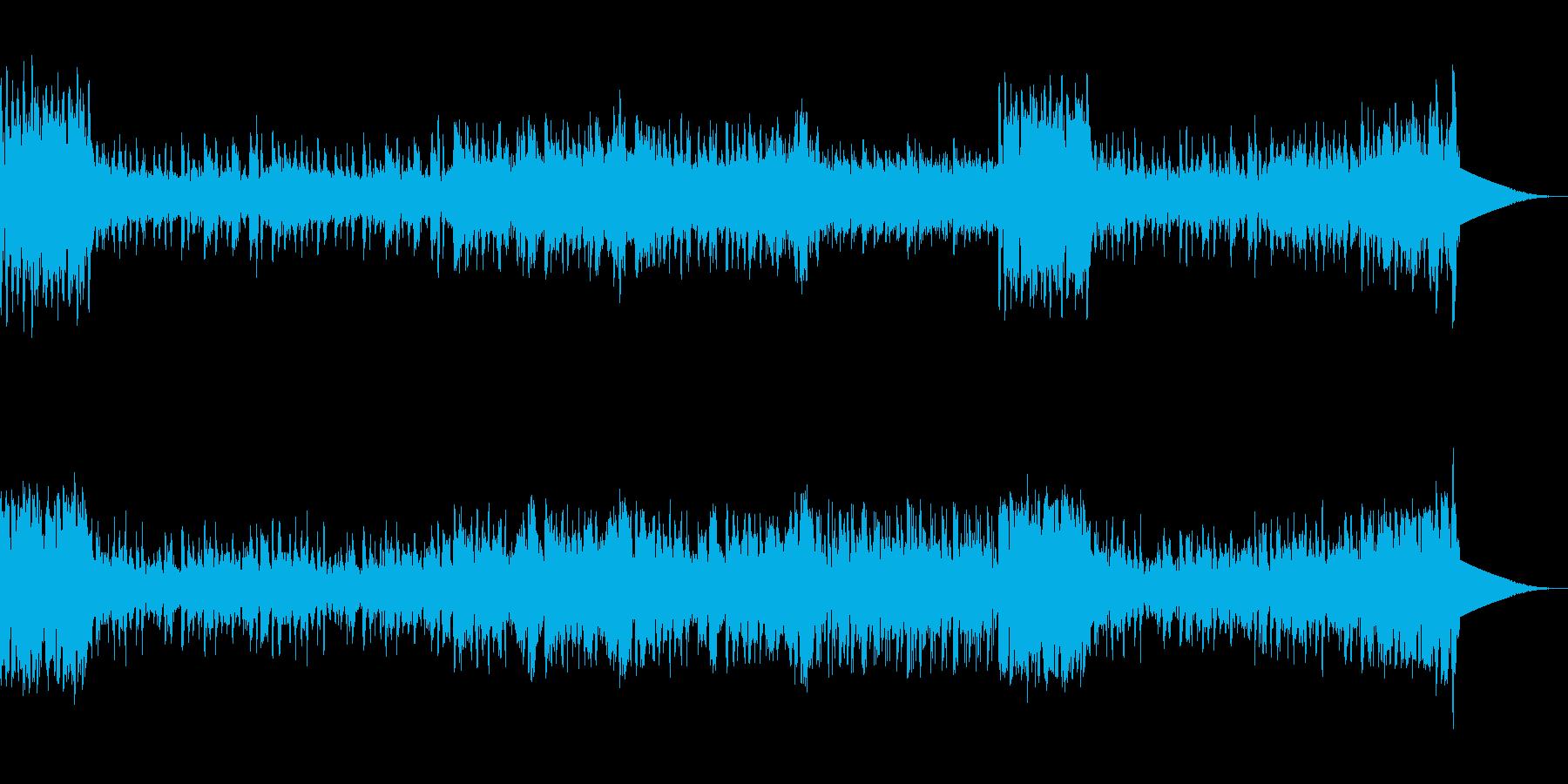 フル稼働して忙しい雰囲気のBGMの再生済みの波形