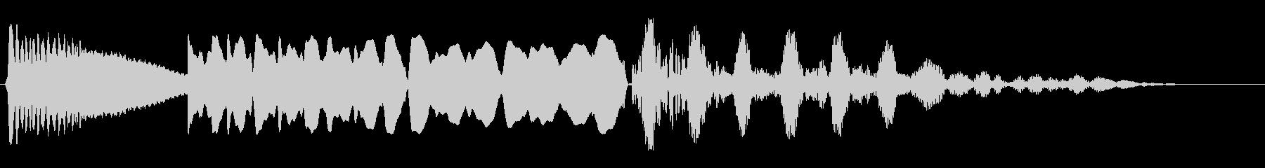 ボヨヨンビューンバシューン(落下)の未再生の波形