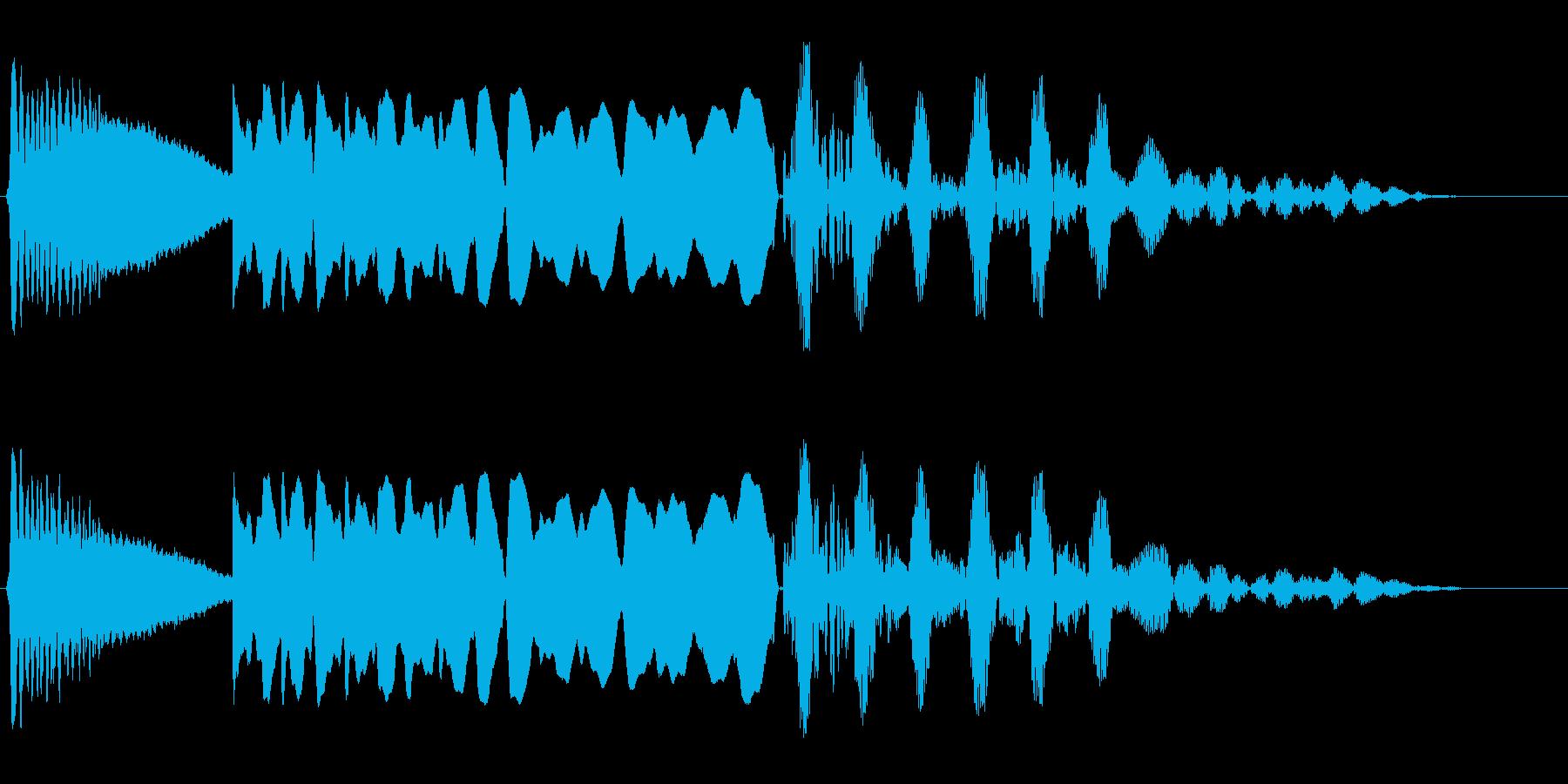 ボヨヨンビューンバシューン(落下)の再生済みの波形