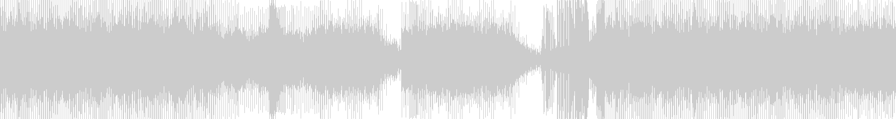 エレキトリックな音の旋律の未再生の波形