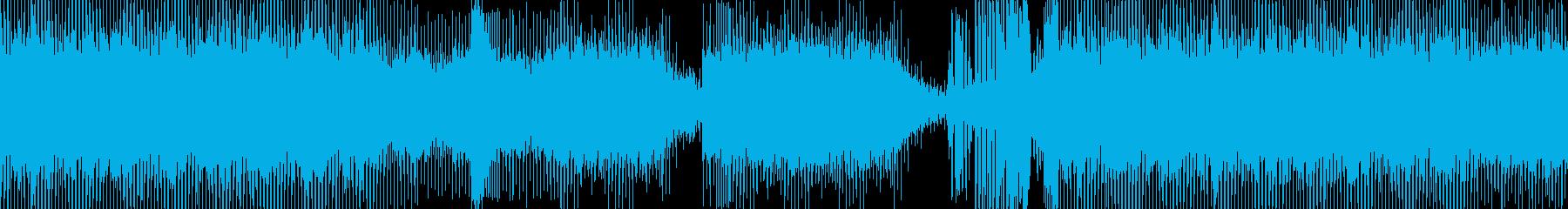 エレキトリックな音の旋律の再生済みの波形