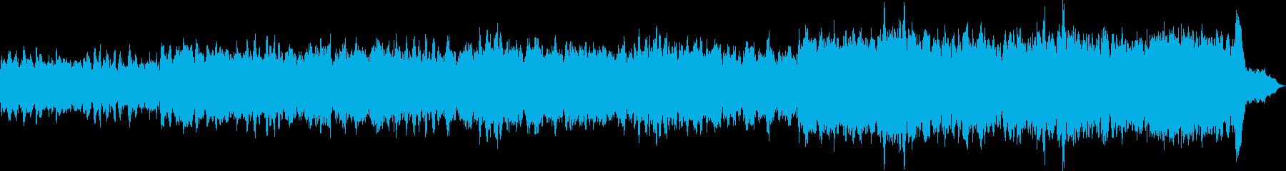 ピアノとストリングスの情熱的な曲の再生済みの波形