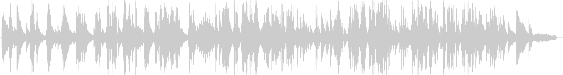 お洒落な動画に合うジャジーなピアノ5の未再生の波形