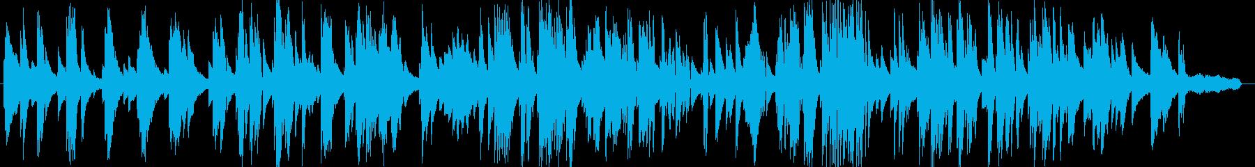 お洒落な動画に合うジャジーなピアノ5の再生済みの波形