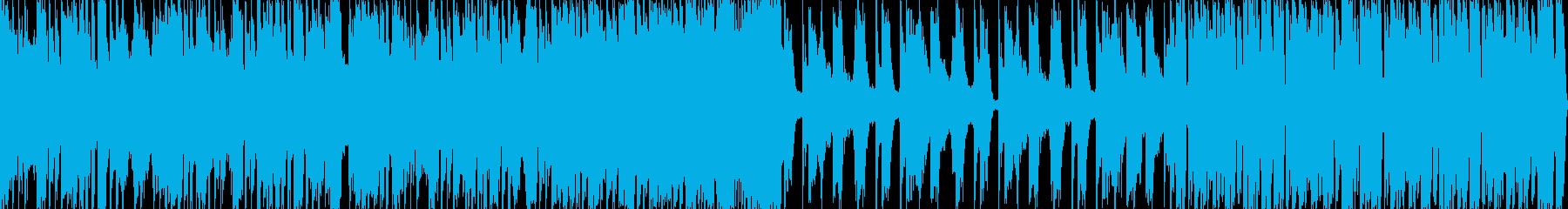 重低音エレクトロダンスミュージックの再生済みの波形
