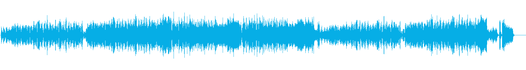 クラシカル風の気取ったイージーリスニングの再生済みの波形