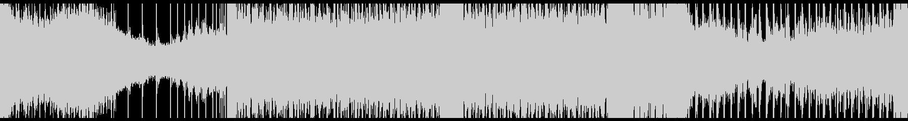 シンセベルによるループ音楽の未再生の波形