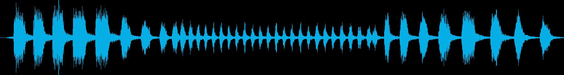 クッカバラ:ボーカルコール、バードの再生済みの波形