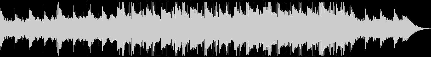 神秘的なピアノのアンビエントの未再生の波形