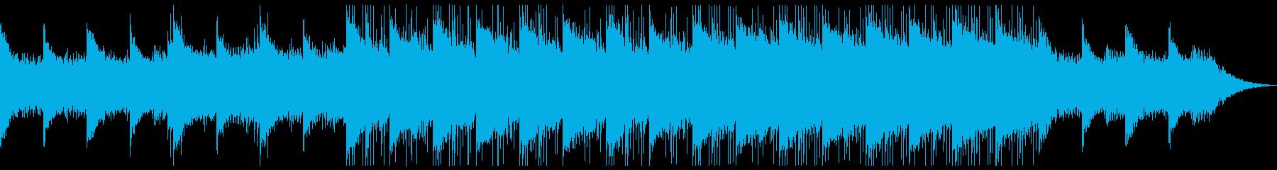 神秘的なピアノのアンビエントの再生済みの波形