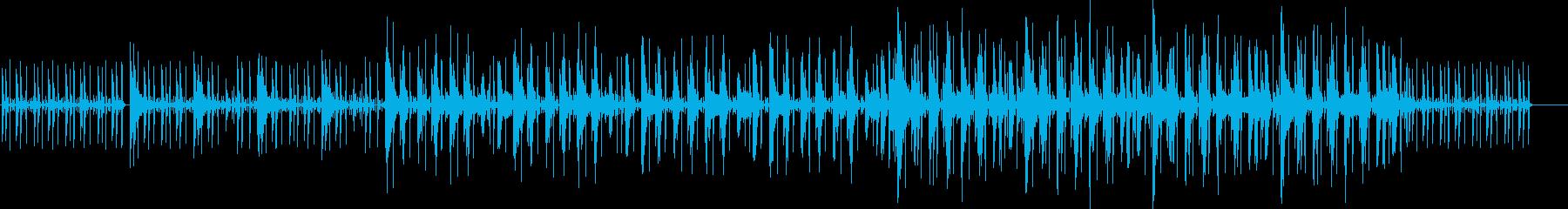 コミカルの中に不気味さがある曲の再生済みの波形