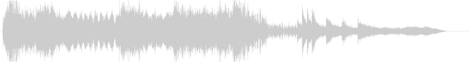 尺八を使用したオープニング曲の未再生の波形