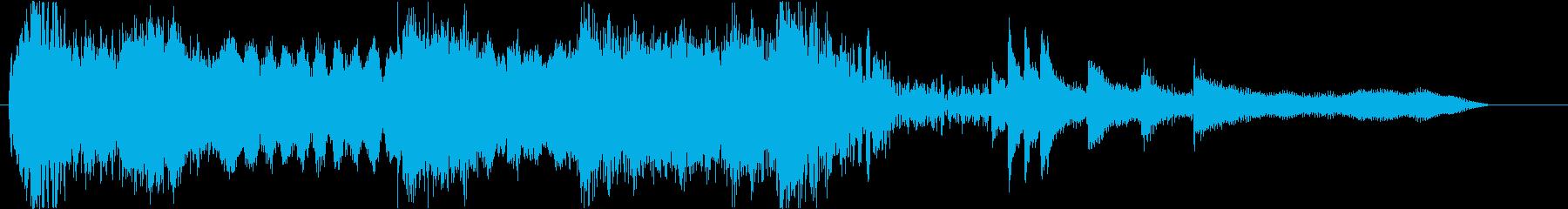 尺八を使用したオープニング曲の再生済みの波形