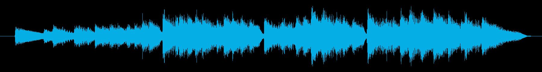 シューマン作品12飛翔 途中の激しい部分の再生済みの波形
