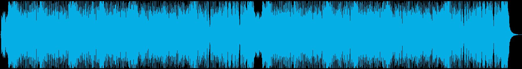 アップテンポな和風曲の再生済みの波形