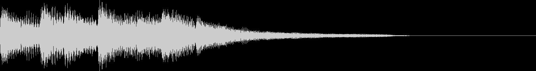 軽快で明るいリズムのピアノジングルの未再生の波形