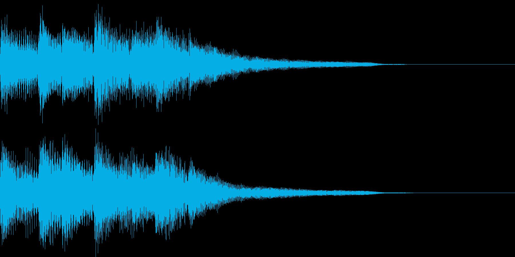 軽快で明るいリズムのピアノジングルの再生済みの波形