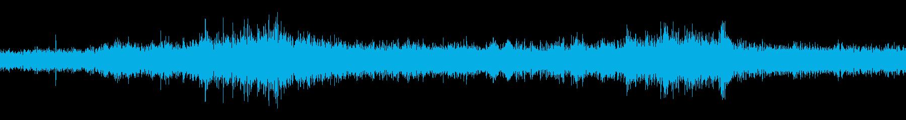 地下鉄車内の音 生録音 ループの再生済みの波形