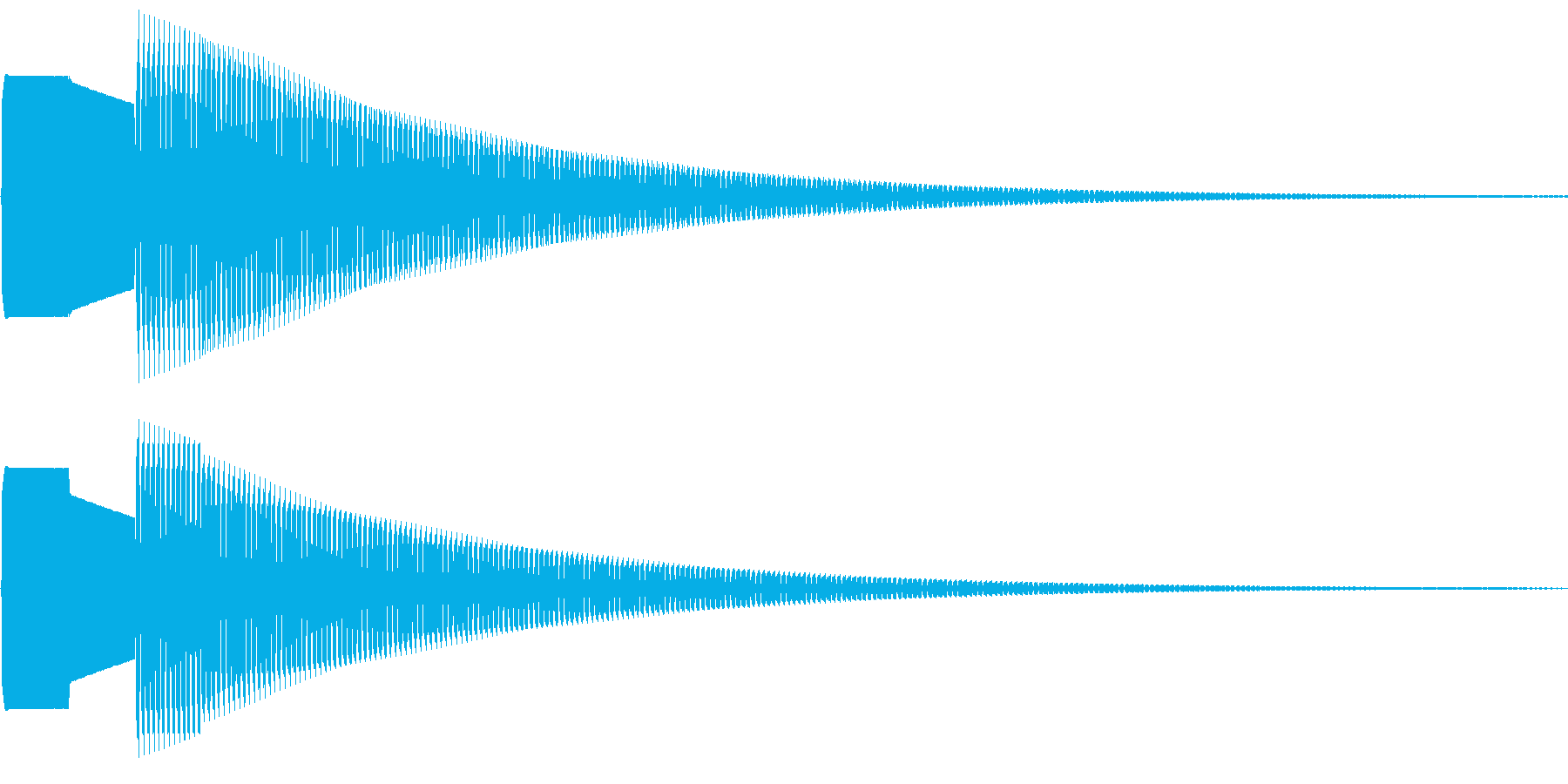クイズに使えそうな呼び出し音の再生済みの波形