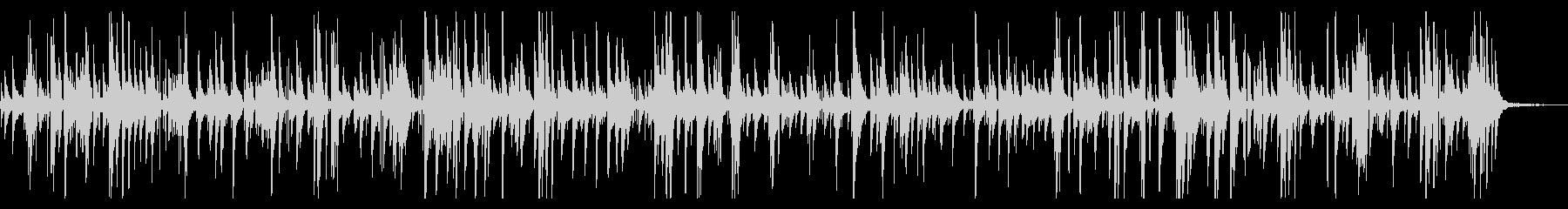 ゆったりとしたジャズピアノバラードの未再生の波形
