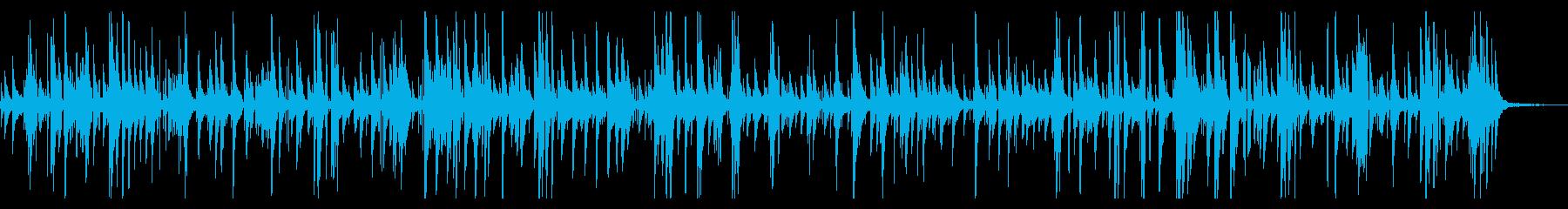 ゆったりとしたジャズピアノバラードの再生済みの波形
