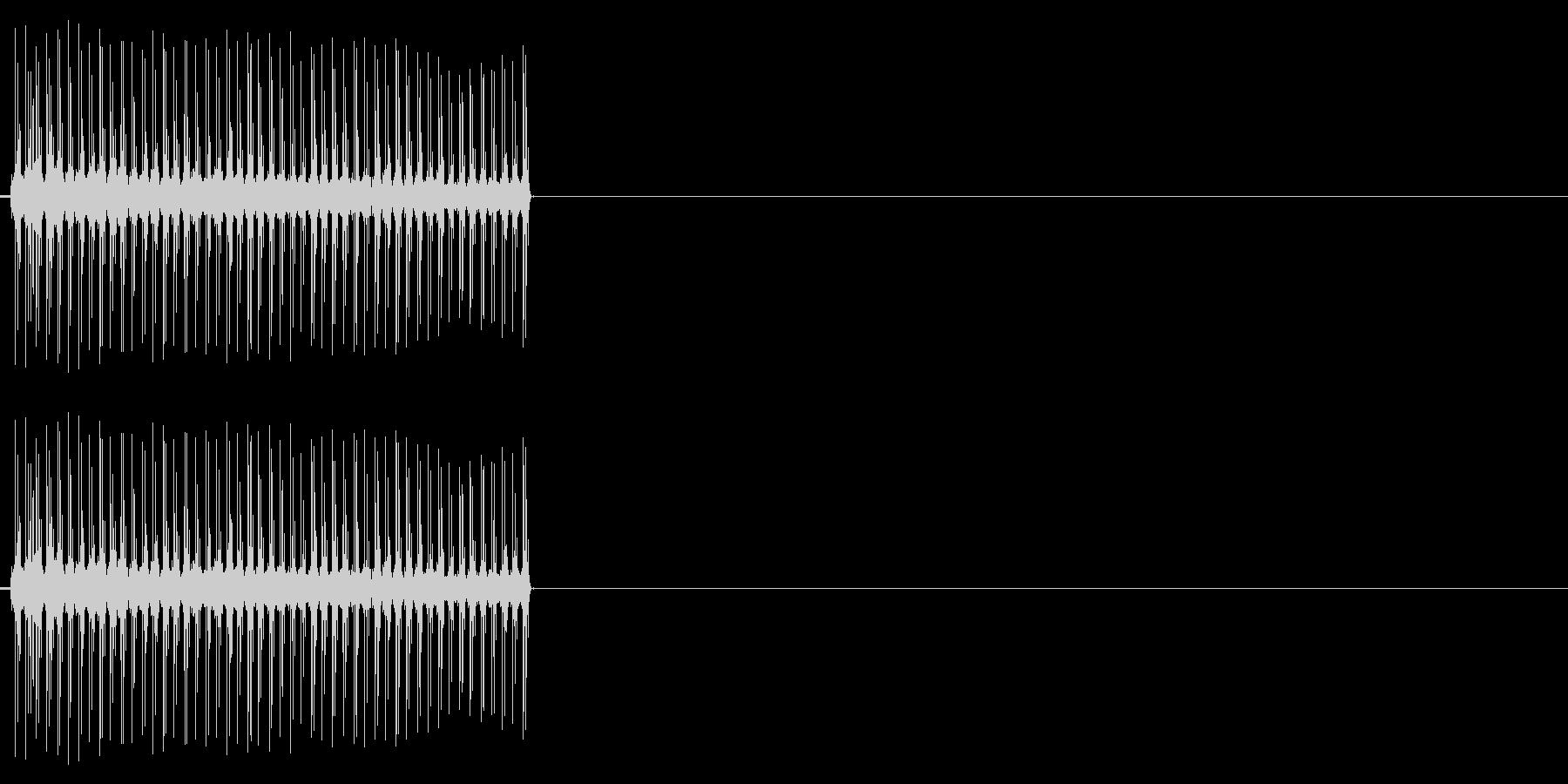 ビリビリ!電撃・感電の音!2ミドルの未再生の波形