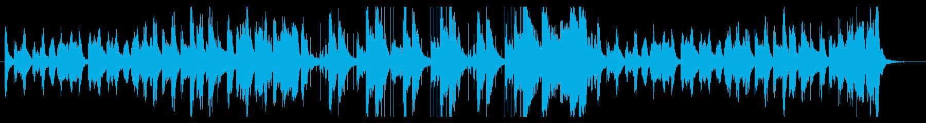 笛・木琴の可愛い、ほのぼの、コミカルな曲の再生済みの波形